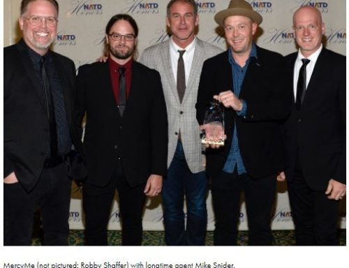 News: 8th Annual NATD (Nashville Association of Talent Directors) Honors Gala Recognizes MercyMe