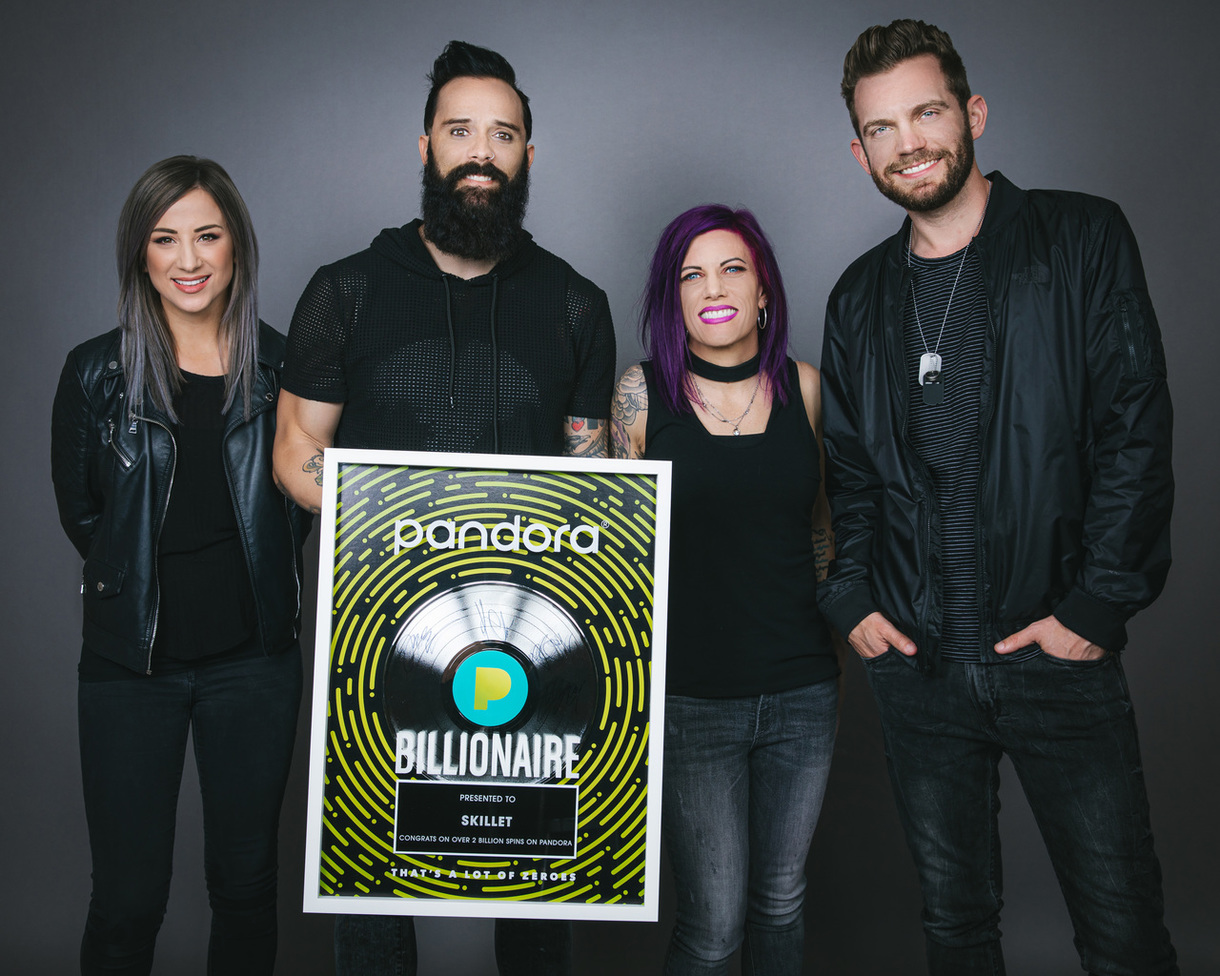 Music News: Pandora Welcomes Skillet to Billionaires Club As